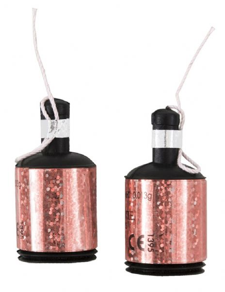 Glitz Rose Gold Holographic Party Poppers (20)